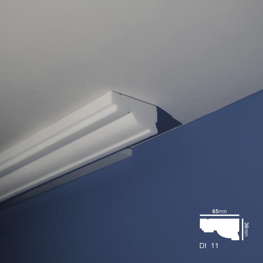 Stiropor lajsne - skrivači led rasvete - Di 11 - plafon