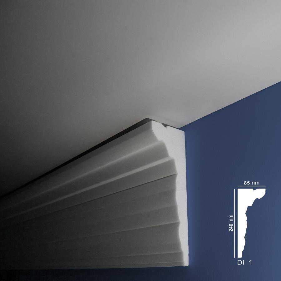 Stiropor lajsne - skrivači led rasvete - Di 1 - zid