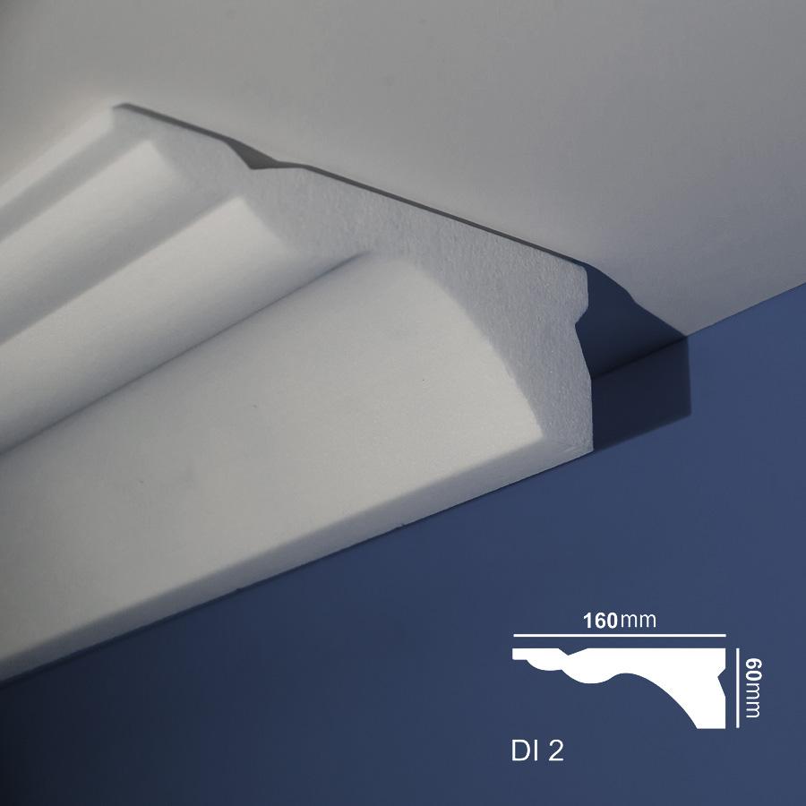 Stiropor lajsne - skrivači led rasvete - Di 2 - plafon