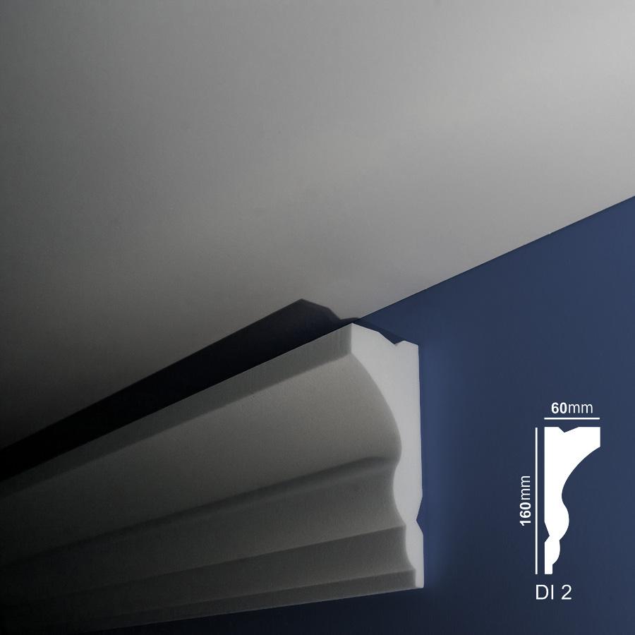 Stiropor lajsne - skrivači led rasvete - Di 2 - zid
