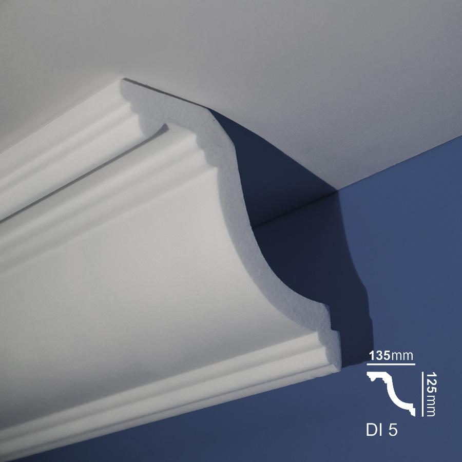 Stiropor lajsne - skrivači led rasvete - Di 5 - plafon