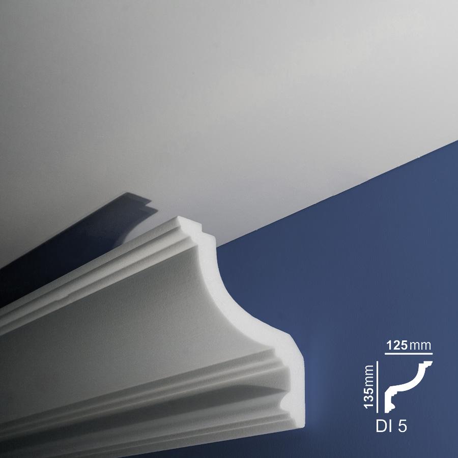 Stiropor lajsne - skrivači led rasvete - Di 5- zid