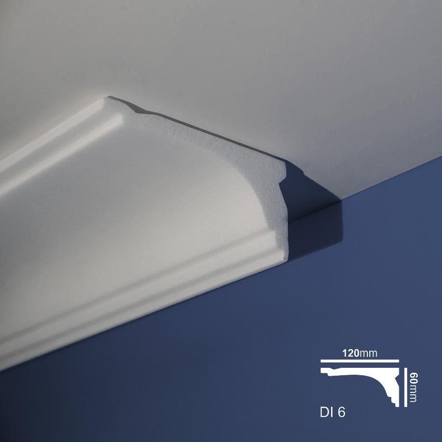 Stiropor lajsne - skrivači led rasvete - Di 6 - plafon