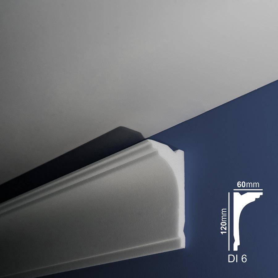 Stiropor lajsne - skrivači led rasvete - Di 6 - zid