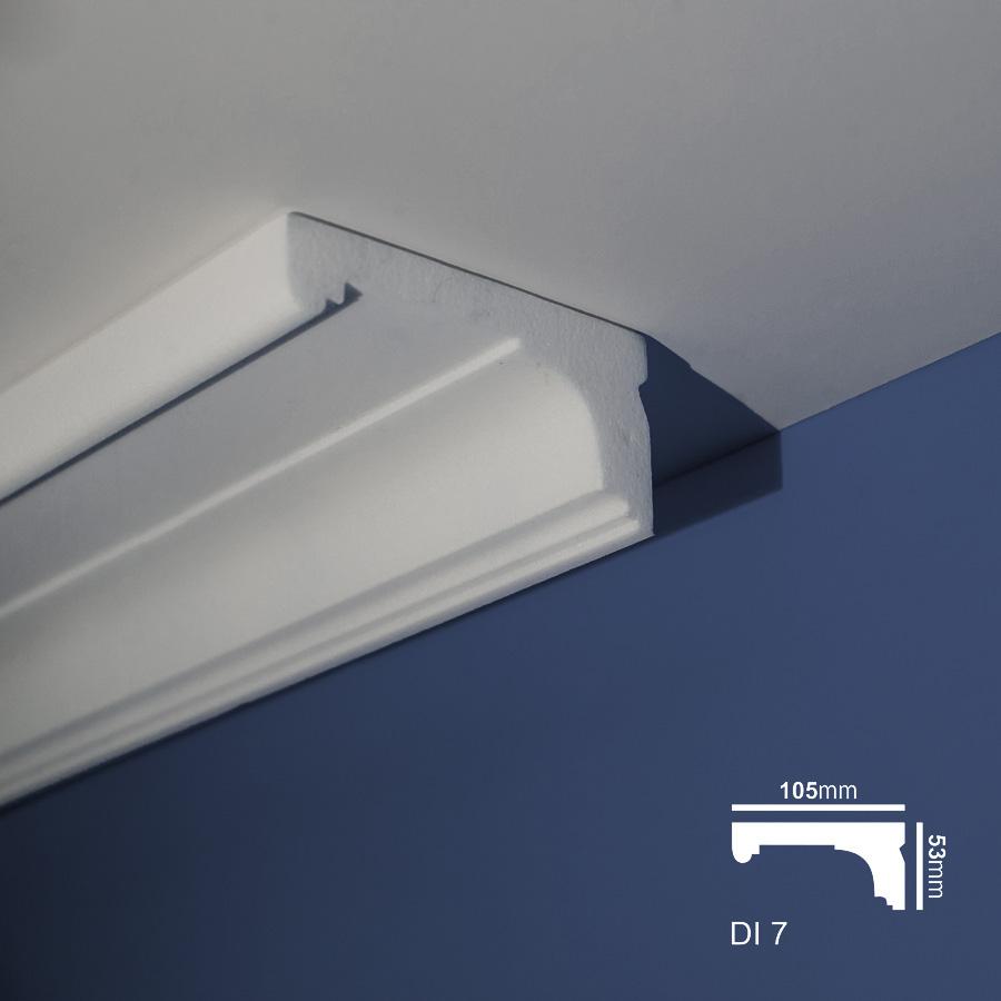 Stiropor lajsne - skrivači led rasvete - Di 7 - plafon