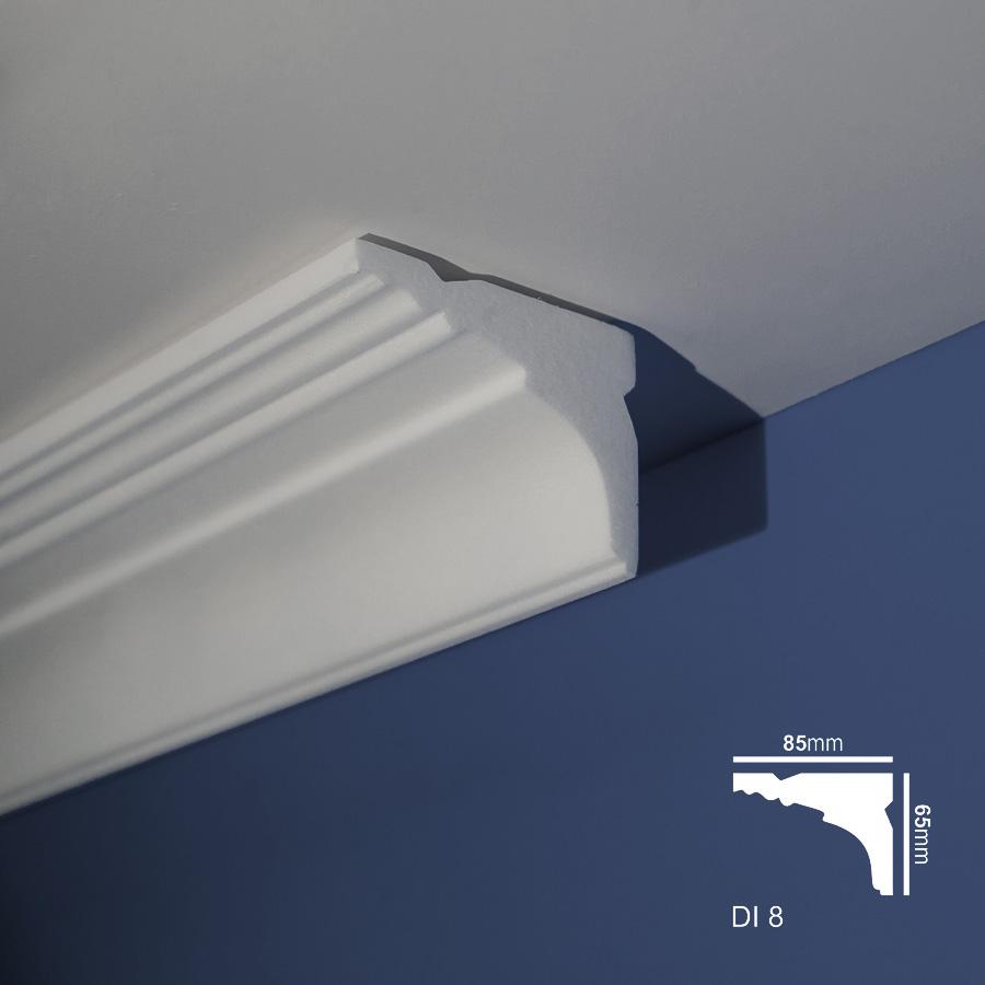 Stiropor lajsne - skrivači led rasvete - Di 8 - plafon