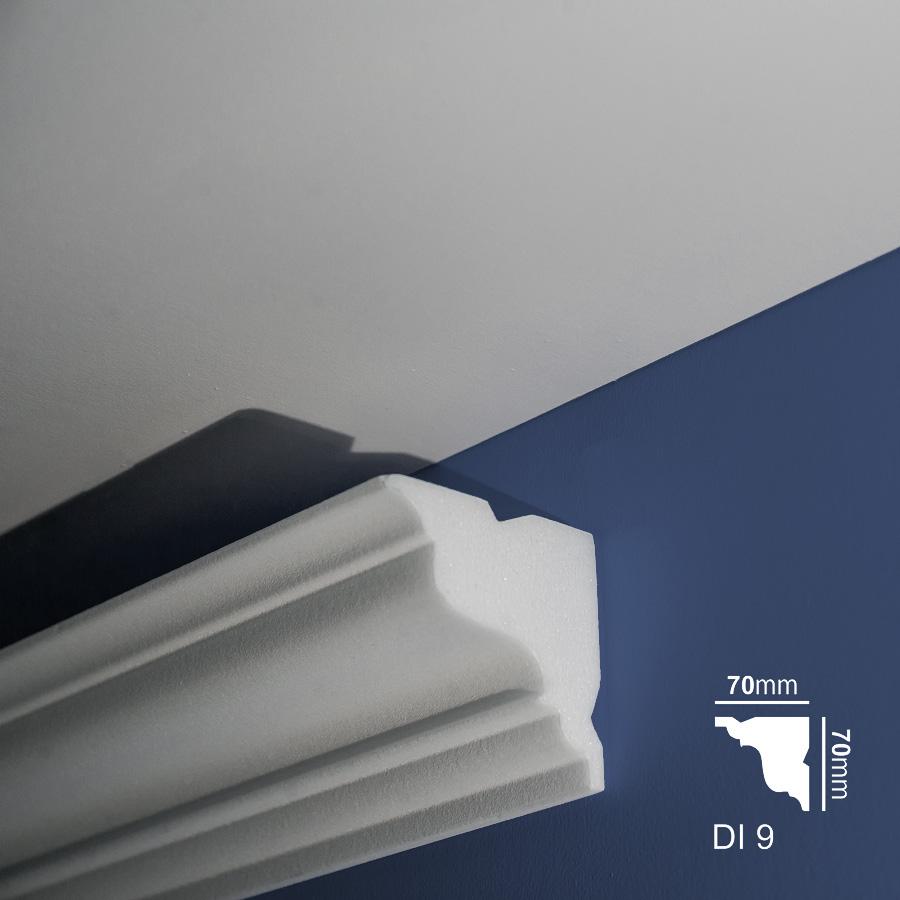 Stiropor lajsne - skrivači led rasvete - Di 9 - zid