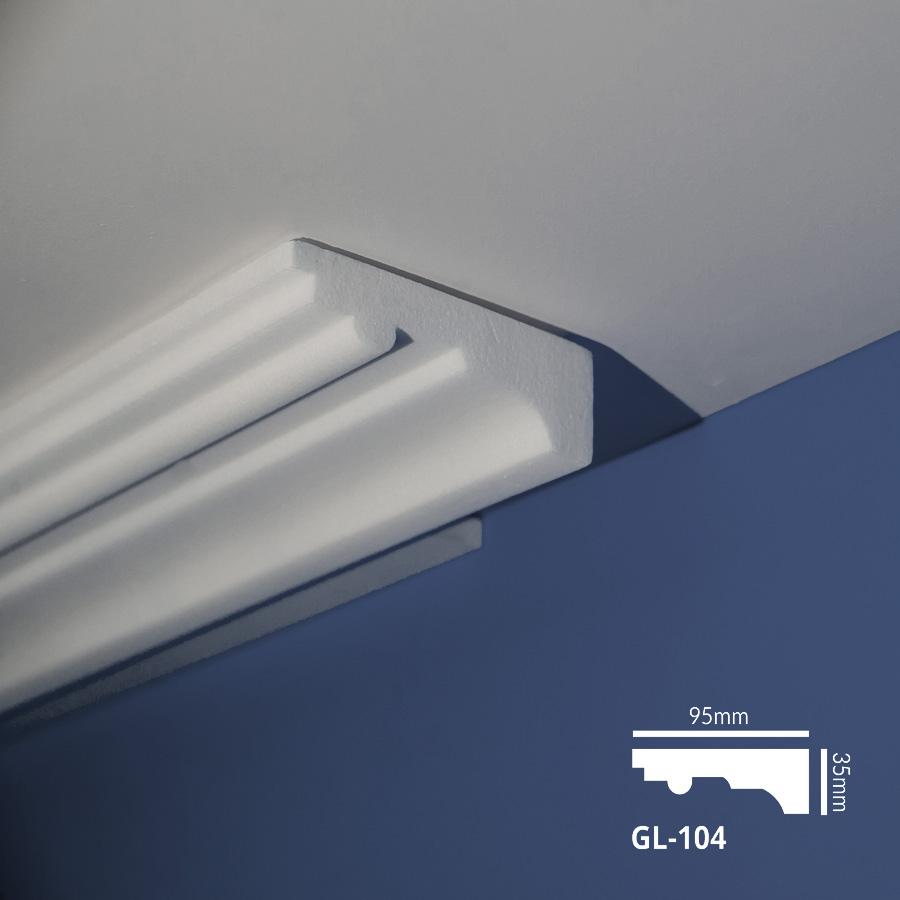 Stiropor lajsne - skrivači led rasvete - GL 104 - plafon