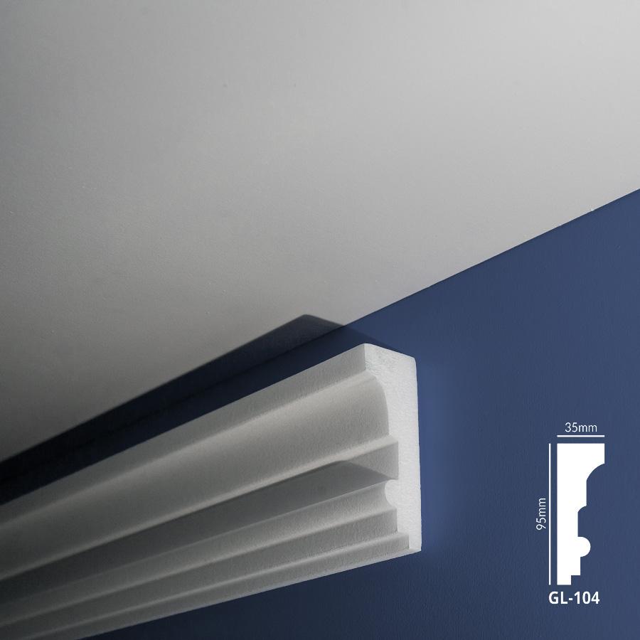 Stiropor lajsne - skrivači led rasvete - GL 104 - zid
