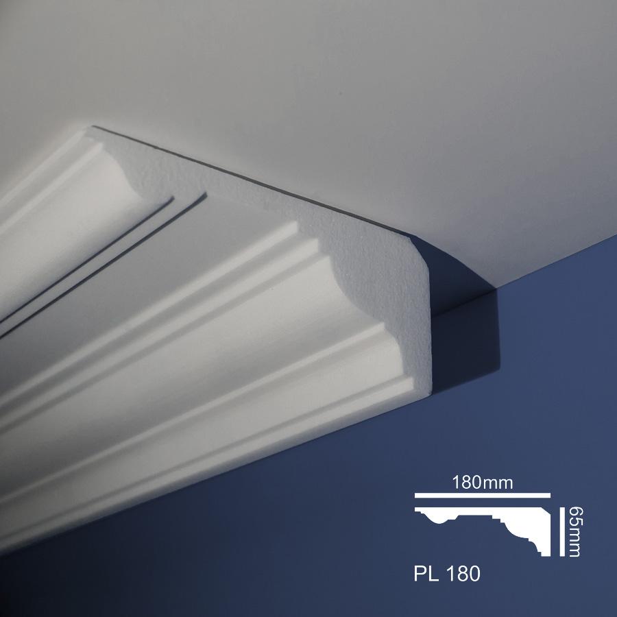 Stiropor lajsne - skrivači led rasvete - PL 180 - plafon