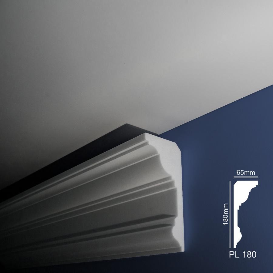 Stiropor lajsne - skrivači led rasvete - PL 180 - zid