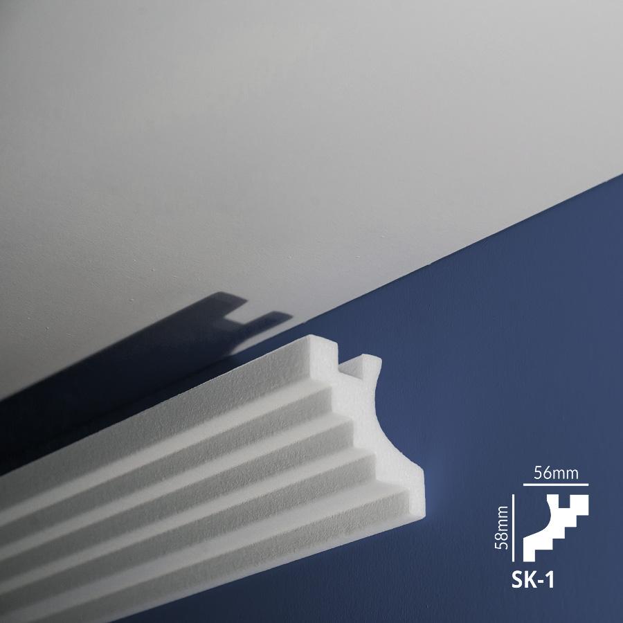 Stiropor lajsne - skrivači led rasvete - SK 01 - zid