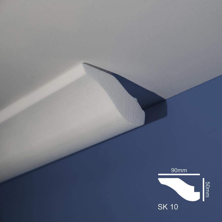 Stiropor lajsne - skrivači led rasvete - SK 10 - plafon