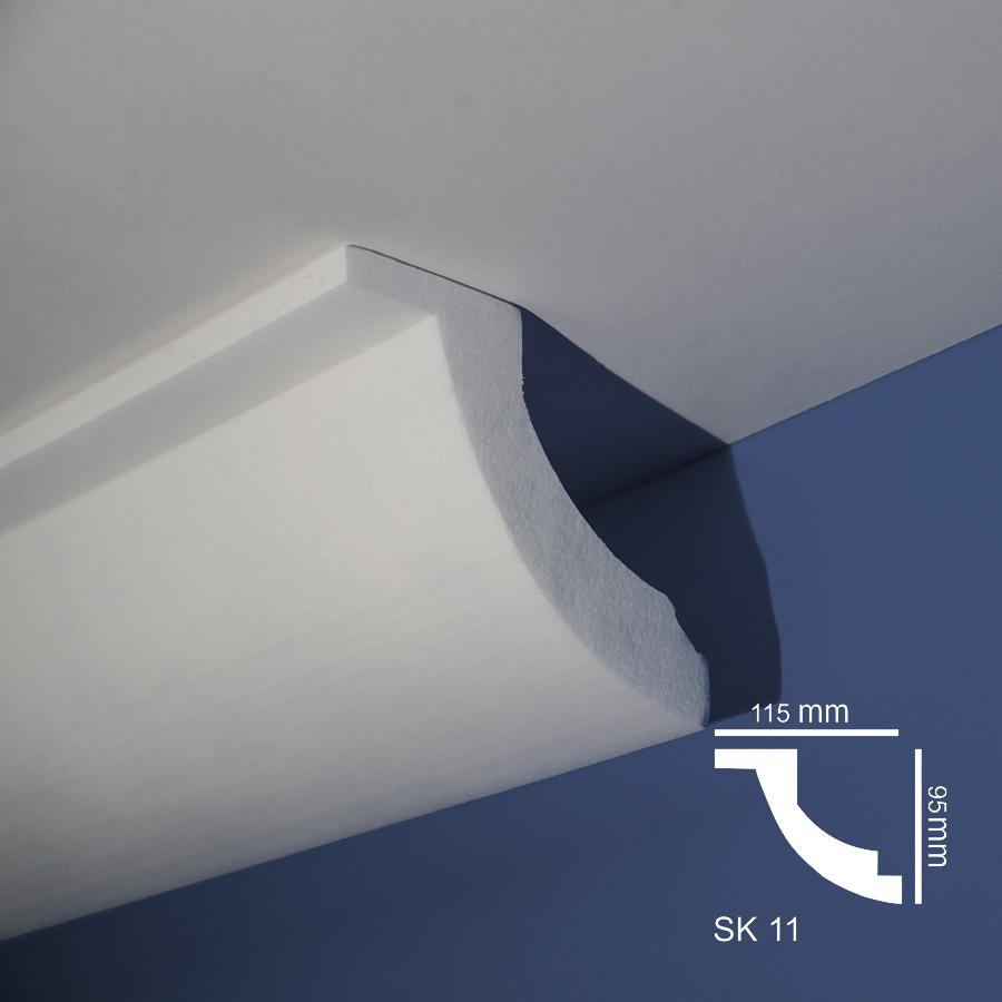 Stiropor lajsne - skrivači led rasvete - SK 11 - plafon