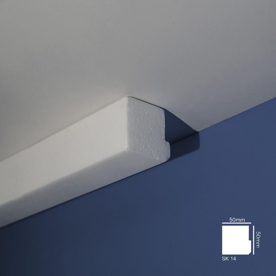 Stiropor lajsne - skrivači led rasvete - SK 14 - plafon