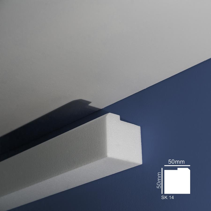 Stiropor lajsne - skrivači led rasvete - SK 14 - zid