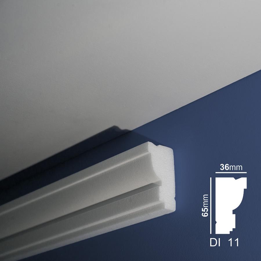 Stiropor lajsne - skrivači led rasvete- Di 11 - zid