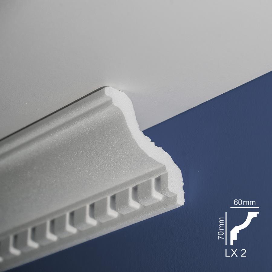 Ugaone stiropor lajsne - LX 2