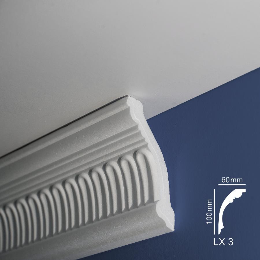 Ugaone stiropor lajsne - LX 3